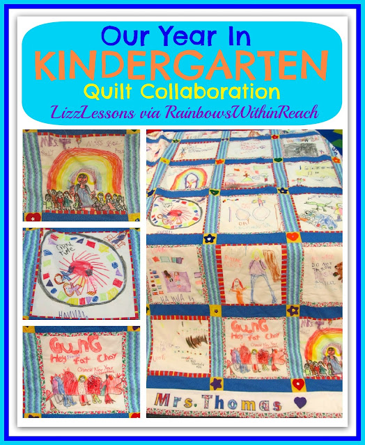 photo of: Our Year in Kindergarten Quilt via RainbowsWithinReach