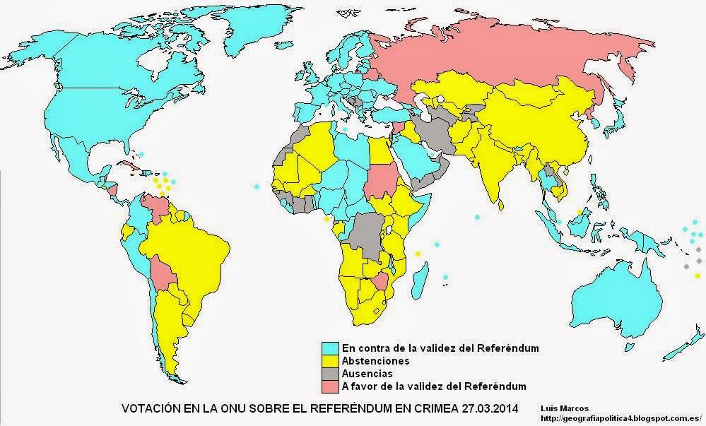 Votación en la ONU sobre Crimea - Blog Geografía Política