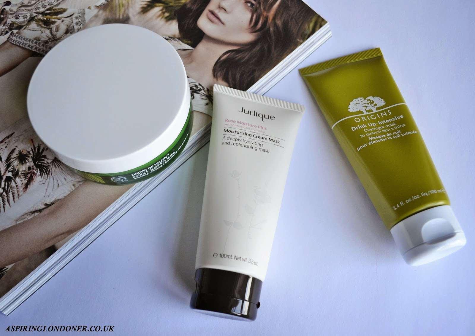 Luxury Hydrating Face Masks ft Origins, Jurlique, The Body Shop - Aspiring Londoner