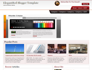 ElegantRed Blogger Template