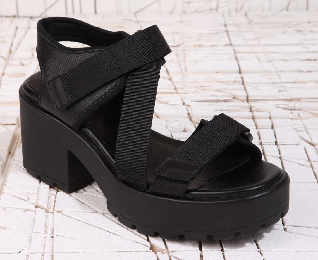 Black vagabond sandals - Vagabond Chunky 90 S Shoes Ss13 Collection Vagabond Dioon Strap White Heeled Sandals
