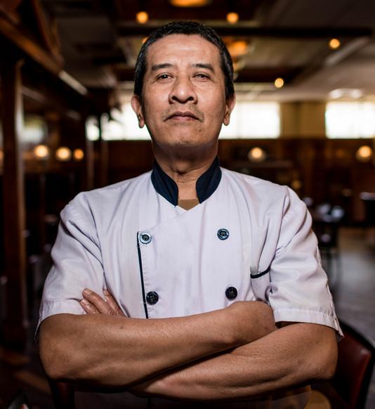 A portrait of a proud chef