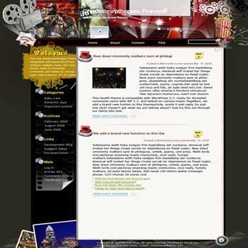 Movie Freak blogger template. converted WordPress to Blogger template. template movie for blog