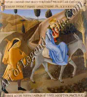 "The Great Artist Fra Angelico Painting ""The Flight into Egypt"" c.1450-53 15"" x 15"" Museo di San Marco, Florence"