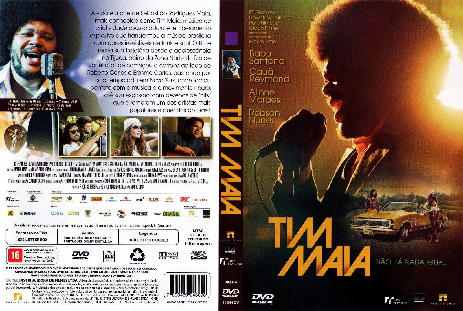 Capa DVD Tim Maia