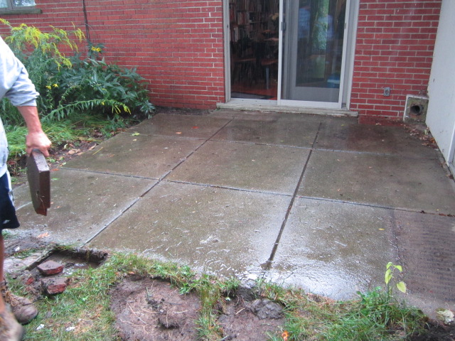 Brick Pavers Replace Old Concrete Patio To Improve Outdoor Living Space