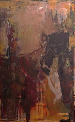 """The Carving of Time by Karri McLean Allrich, 48x30"""" abstract painting"""