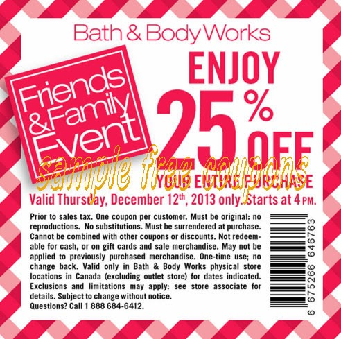 Coupon printable bath and body works