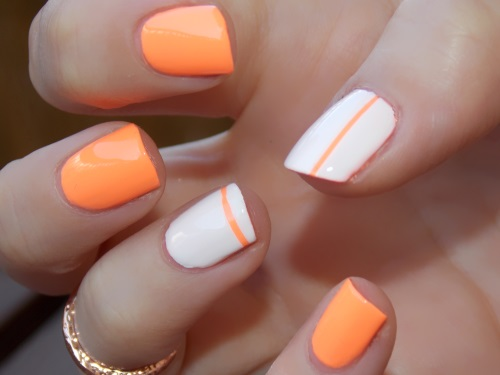 Beauté blog blogueuse psychosexy tendance summer 2013 vernis nail art china glaze sun of a peach nailstorming 4