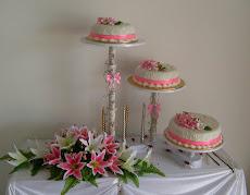 3 TIER CASCADE CAKE