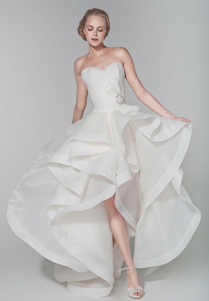 Organza Strapless Sweetheart A Line 2 In 1 Wedding Dress