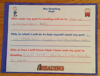 Reading goals forms