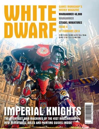 Portada de la White Dwarf 4 con los Caballeros Imperiales