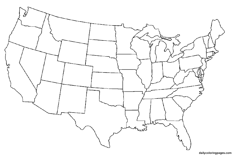 Coloring Pages Usa Map Show Me The World Map - Coloring page us map