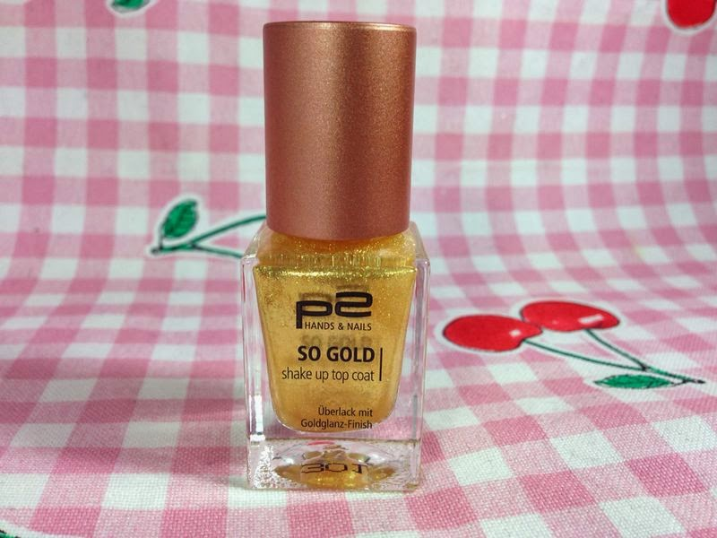 P2 Nagellacke - So Gold Top Coat - www.annitschkasblog.de