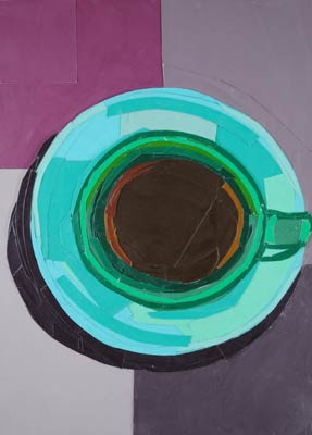 Green Coffee Cup by Megan Coyle