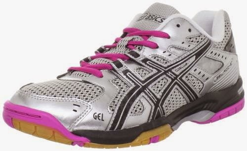 Asics Gel Rocket  Womens Black Basic Textile Tennis Shoes