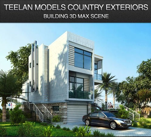 Free 3d Objects Teelanmodels Country Building Residential Scene