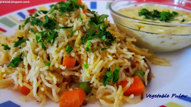 vegetable pulao (vegetable rice)
