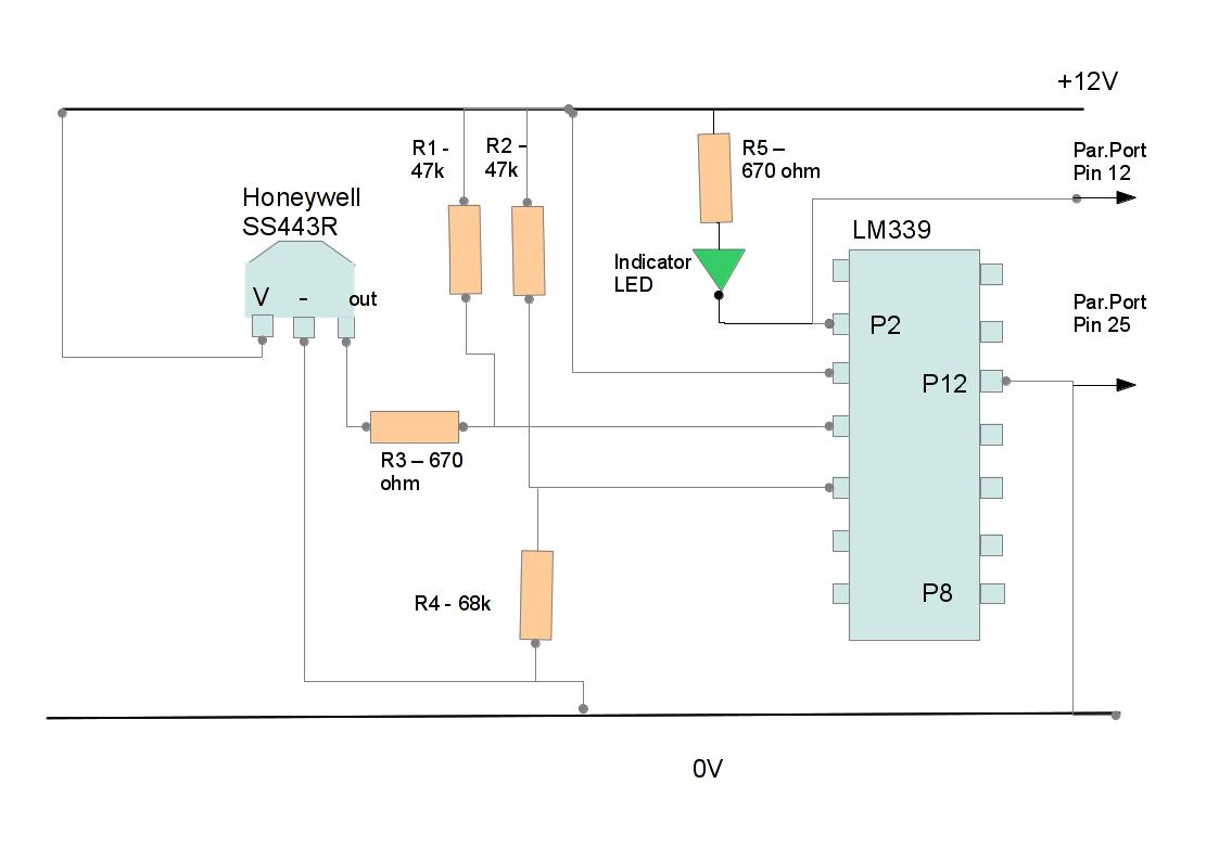 Parallel Port Interface Circuit Diagram Trusted Schematics Wiring Techniphilia Pc Hall Effect Sensor Question