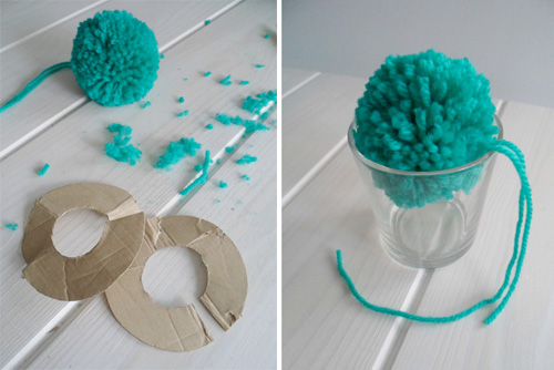 Lalole blog c mo hacer pompones de lana - Como hacer alfombras de lana ...