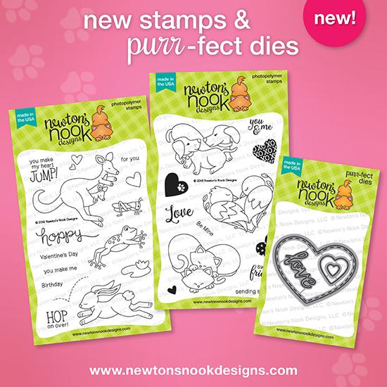 Valentine Stamps & Die Set  |  Newton's Nook Designs #newtonsnook