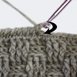 Reverse single crochet - With right side facing and working from left ...