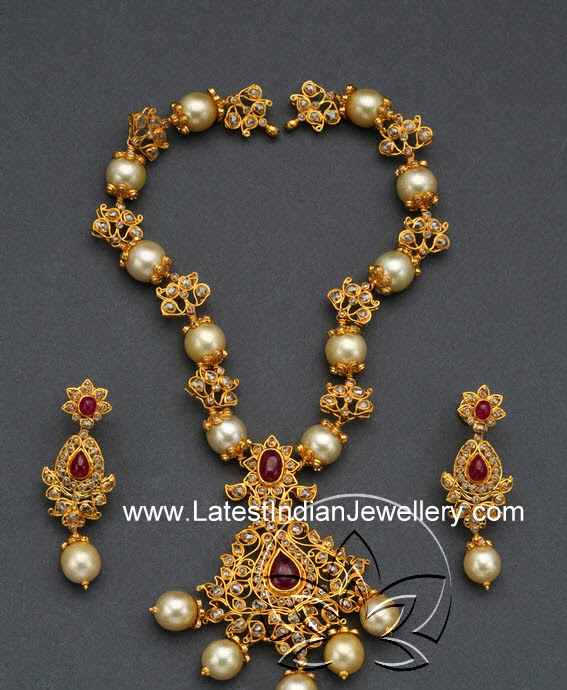 broad jewellery uncut diamond necklace designs
