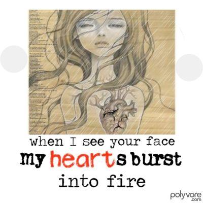 Elegant Hearts Burst Into Fire