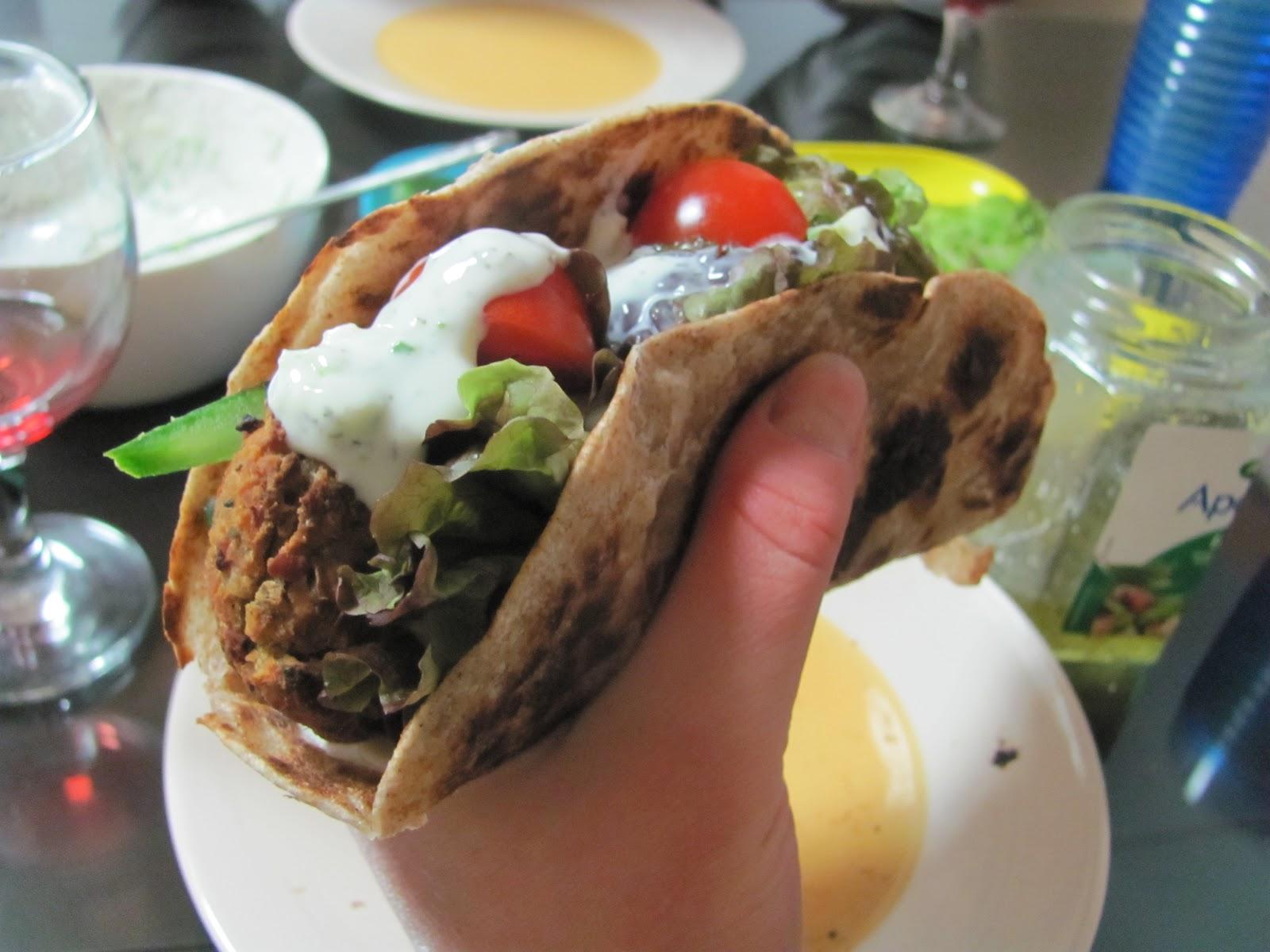 ... found here http allrecipes com recipe seans falafel and cucumber sauce