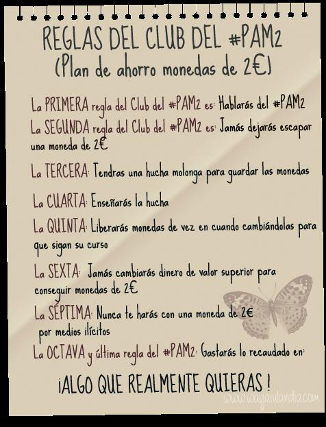 305 el club pam2 plan de ahorro de monedas de 2 for Reglas de mi habitacion
