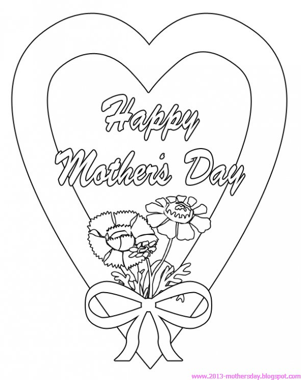Happy Mothers day Coloring Pages for Kids title=