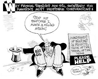 Khalil Bendib cartoon on oil industry subsidies