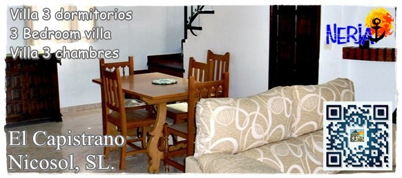 Alquiler de villas para vacaciones en El Capistrano, Nerja, Costa del Sol - Nicosol, SL.