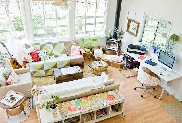 decoracao de cozinha e quarto juntos : decoracao de cozinha e quarto juntos: Decoração: Sala de estar, jantar, escritório e cozinha: tudo junto