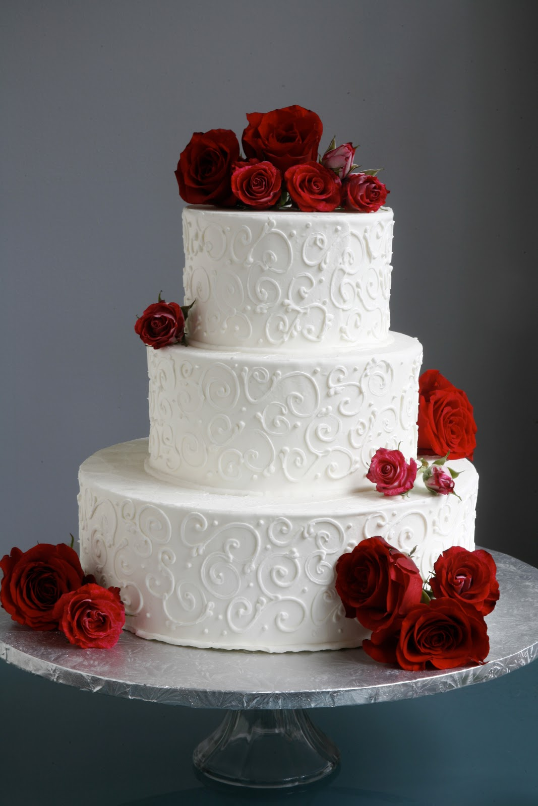 A Simple Cake: Wedding Cake with Fresh Flowers- From ...