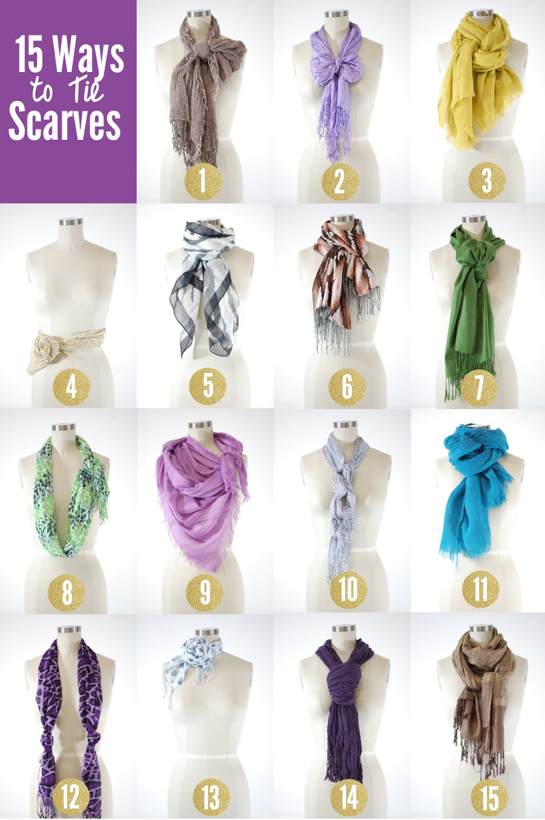 the chic cupcake 15 ways to tie a scarf