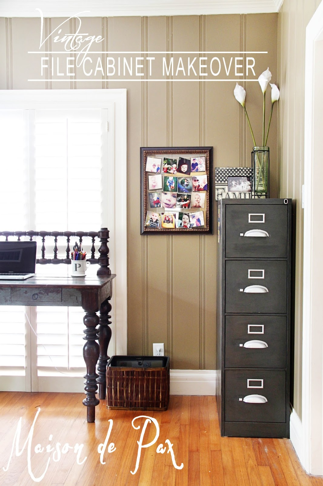 Vintage File Cabinet Makeover Maison de Pax
