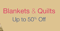 Amazon: Get 50% Off or more on Blankets & quilts  -BuyToEarn
