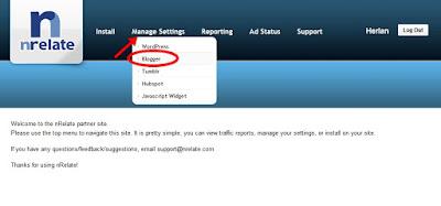 escolendo platarforma de instalção do widget - Blogger