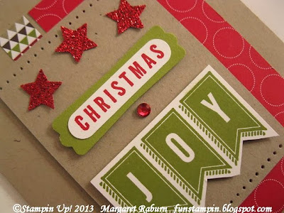 Margaret Raburn.  A Banner Christmas set.  Stampin' Up!, Christmas, holiday card.
