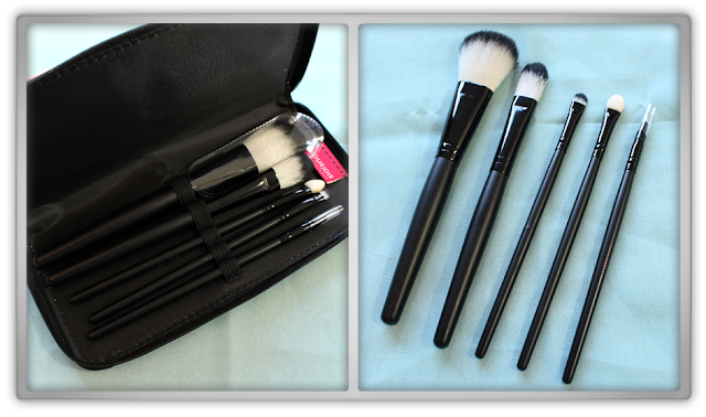 NON Asian Bourjois beauty products Haul Review 2015 blogger Bourjois Penselenset brushset pouch peach brushes free gift