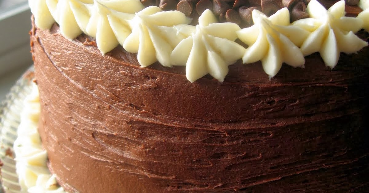Chocolate Layer Cake with Cream Cheese Filling and Chocolate ...