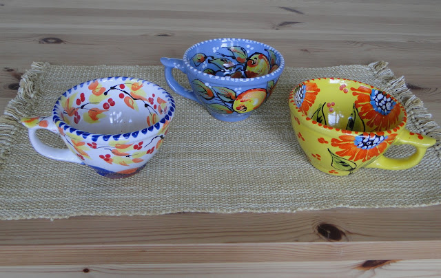 Hand-painted cups from Lviv, Western Ukraine