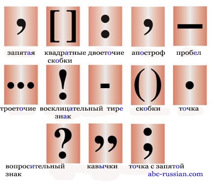 russian punctuation