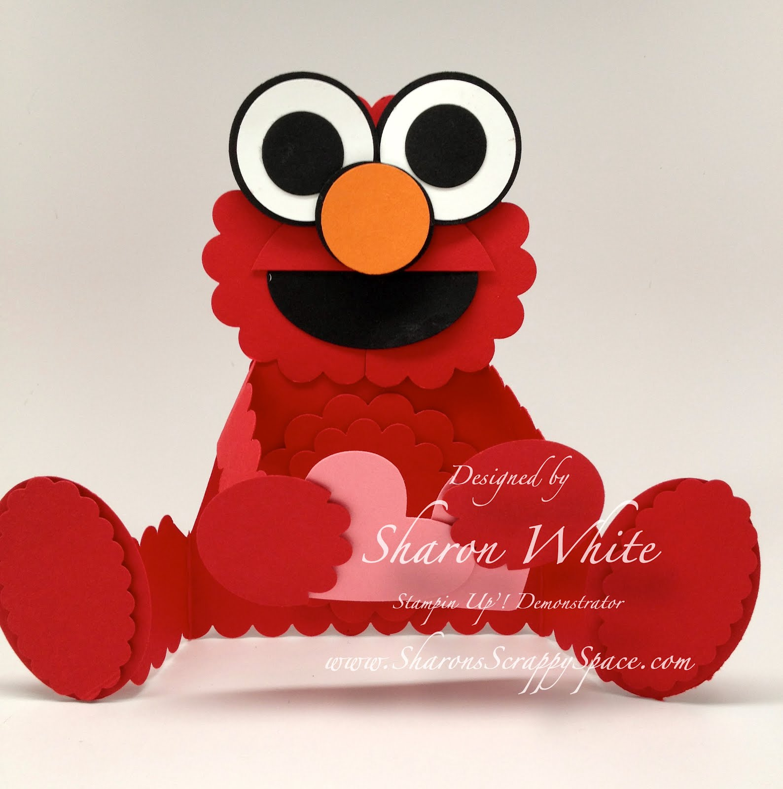 Sharon\'s Scrappy Space: Elmo Punch Art Card