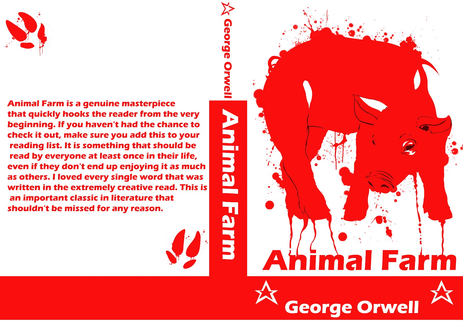 a plot summary of george orwells animal farm Have you ever sought out to change something for the better but ended up making it worse in the novel animal farm, by george orwell, animals take over a farm.