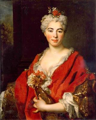 Nicolas de Largilliere (1656-1746)-Portrait de Marguerite de Largilliere