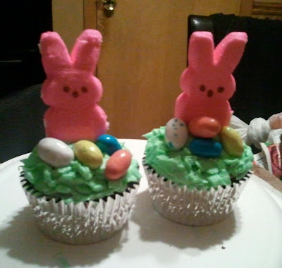 Cute Easter Bunny Cupcakes