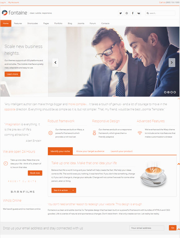 Fontaine - Clean Business Joomla Template